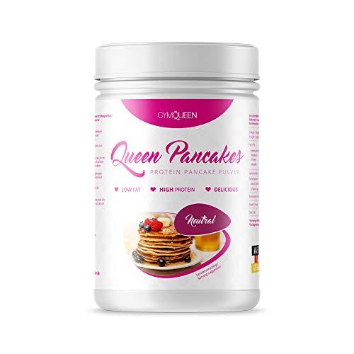 GymQueen Protein Pancakes 500g | Backmischung für leckere Protein Pfannkuchen und Waffeln | Zuckerarm & wenig Fett | Pancake Mix mit 55% Eiweiß | einfach und schnell zubereitet | Neutral