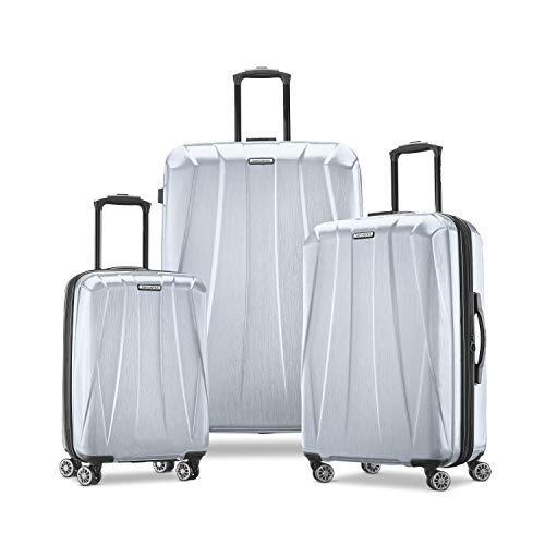 Samsonite Centric 2 Hardside Expandable Luggage with Spinner Wheels, Silver, 3-Piece Set (20/24/28)