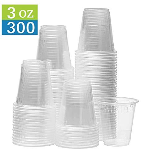 TashiBox 3oz Clear Disposable Cups (300)