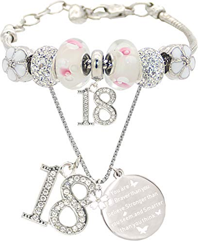 18th Birthday Gifts for Girl, 18th Birthday, 18 Year Old Birthday, 18th Birthday Bracelet, 18th Birthday Necklace, 18 Year Old Daughter Birthday Gift Idea, Bracelet and Necklace for 18 year old girl