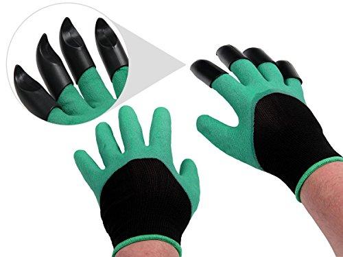 Alsino Gartenhandschuhe mit Krallen Griphandschuhe Gartenarbeit Handschuhe Wasserdicht Stichsicher 1 Paar