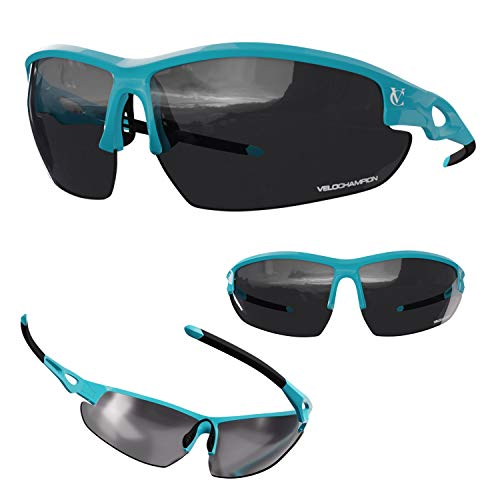 VeloChampion Tornado Cycling Running Sports Sunglasses 3 Sets of Lenses and Soft Pouch