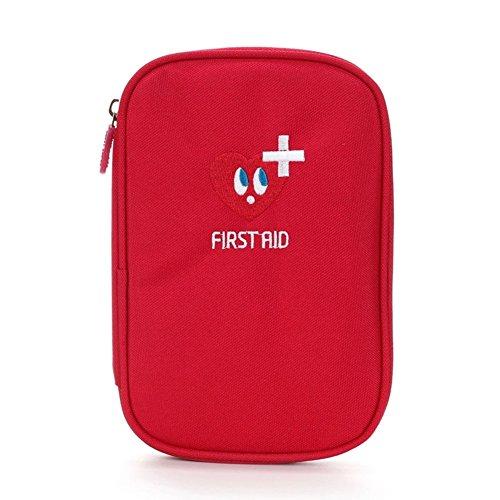 Lifesport Erste Hilfe Set, Verbandkasten Erste-Hilfe-Koffer First Aid Kit Notfalltasche Medizinisch Tasche Oxford Tuch Medicine Pouch für Haus Auto Camping Jagd Reisen Natur und Sport (Rot)