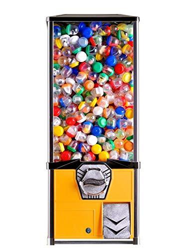 Vending Machine - Big Capsule Vending Machine - Prize Machine - Commercial Vending Machine for 2 Inch Round Capsules Gumballs Bouncy Balls - Yellow