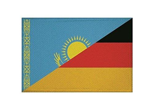 U24 Aufnäher Kasachstan-Deutschland Fahne Flagge Aufbügler Patch 9 x 6 cm