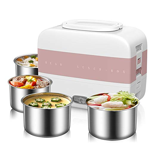XIYUN 220V Electric Lunch Meals Heating Box Household Portable Electric Multi Cooker Rice Cooker with 4 Liners