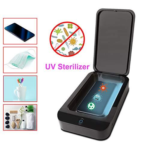 Aibecy-Esterilizador de luz UV, Caja limpiadora de desinfectante UV, para teléfono móvil Cepillo de Dientes Joyería Reloj Herramientas de Maquillaje Esterilización, con Puerto de Carga USB