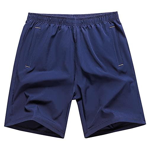 BGROESTWB Troncos de Natación para Hombre Pantalones Cortos de Deportes de Playa de Hombres con Bolsillos Casuales seco rápido Casual Surf Camas Shorts Transpirable para Verano