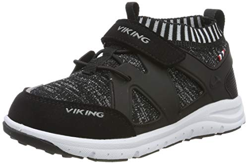 Viking Aasane, Chaussures de Cross Mixte Enfant Noir (Black/grey 203) 20 EU