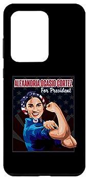 Galaxy S20 Ultra Alexandria Ocasio Cortez AOC AOC Flag Strong Woman Case