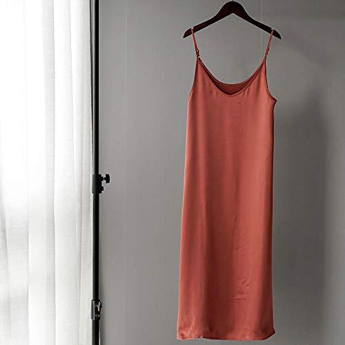 Dresses Hübsche Kleid Kleider Damen Frauen Satin Kleid Party Luxus Glänzendes Sommerkleid Sexy Imitation Seidenkleid S C