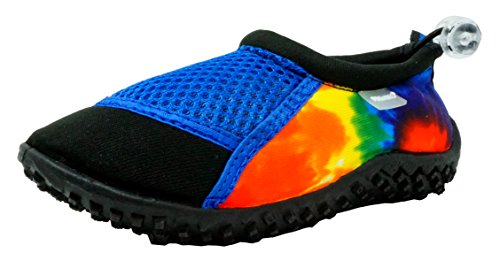 Fresko Toddler Water Shoes for Boys and Girls, T2022, Black/Royal, 5 M US Toddler