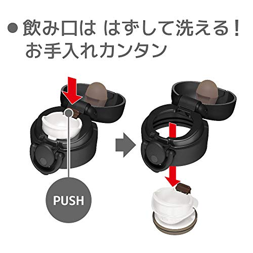 サーモス水筒真空断熱ケータイマグワンタッチオープンタイプマットブラック500mlJNR-501MTBK