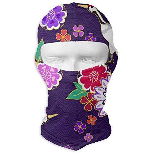 Sitear Decoratieve Kimono Patroon Vector Afbeelding Gepersonaliseerde Full Face Masker Hood Neck Warm Voor Mannen En Vrouwen Outdoor Sport Windproof Zonnebrandcrème
