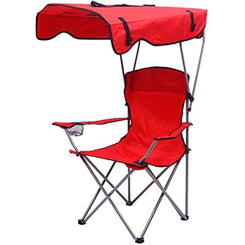 FXBH Silla de Campamento Plegable con Toldo, Playa Portátil de Aluminio para...