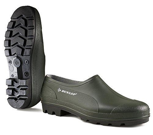 Dunlop Bicolour Zapato Cerrado Professional, Verde/Negro, 43
