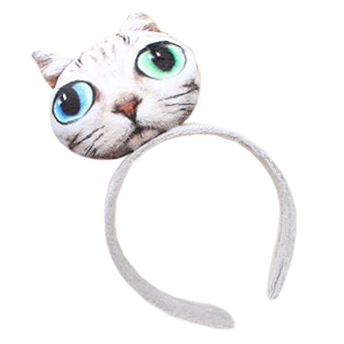 Fille Sweet Cute Cat coiffure bande de cheveux bandoulière bande bande antislip bandeau, Blue Green Eyes cat