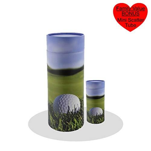 Urne, Streuröhrchen für menschliche Asche, biologisch abbaubar Urne Urnen für menschliche Asche, Urnen für menschliche Asche, Urnen für Erwachsene Golfball
