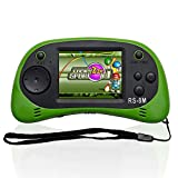 Kids Handheld Game, Portable Video Games Console with 16 Bit 200 Games, 2.5'' Screen Retro Gaming Player Entertainment Gifts for Child Adults (Green)