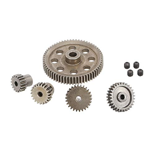 Globact 11184 Steel Diff Differential Main Metal Spur Gear 64T 17T 21T 26T 29T Motor Gear RC Replacement Parts for Redcat Volcano EPX HSP 1/10 Monster Truck Brontosaurus 94111