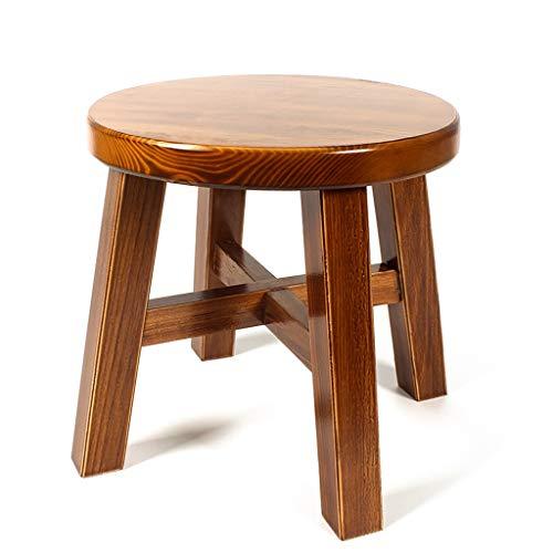 CJH Kleine Ronde Kruk Woonkamer Effen Hout Mode Eenvoudige Thee Tafel Kruk Kinderstoel