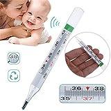 BIKITIQUE Termómetro para Bebés Adultos sin Mercurio Termómetro de Precisión...