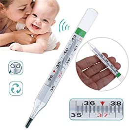 BONFASH Mercury-Free Thermometer for Adult and Baby
