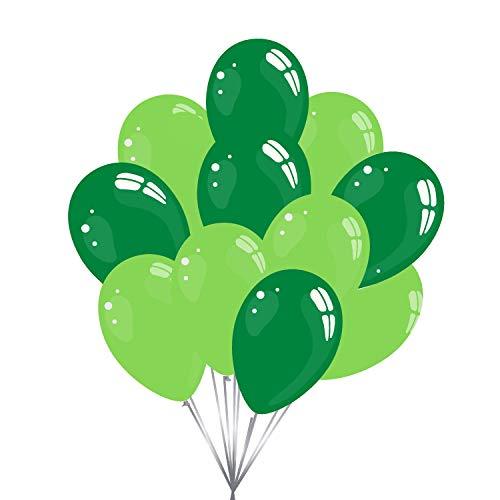 50 Premium Luftballons in Apfelgrün & Dunkelgrün - Made in EU - 100% Naturlatex somit 100% giftfrei und 100% biologisch abbaubar - für Helium geeignet - twist4®