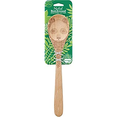 Talisman Designs Beechwood Mixing Spoon Wildlife Design - Panda, Laser Etched Art, 12-Inches Long