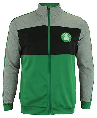 Outerstuff NBA Youth Boys (8-20) Performance Full Zip Stripe Jacket, Boston Celtics Large (14-16)