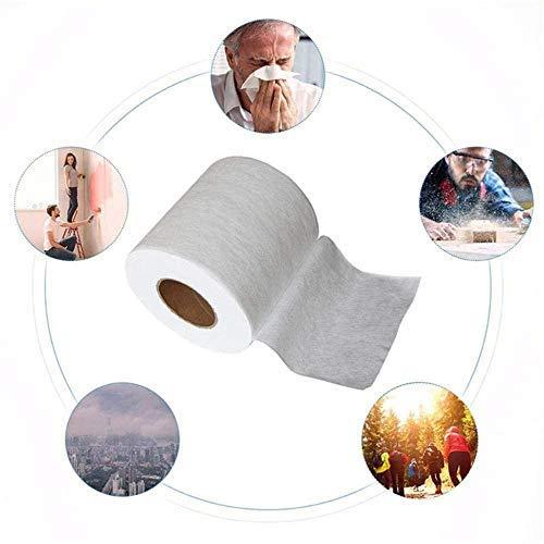 ASDAF Tissu filtrant en Tissu Non tissé meltblown matériau Tissu Original jetable Filtre intermédiaire en Tissu Bricolage,20 m,Chine