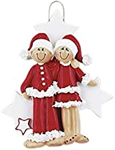 Personalized Christmas Tree Decoration Ornament Couple PJ Lovers -Get your desired names on the items- A