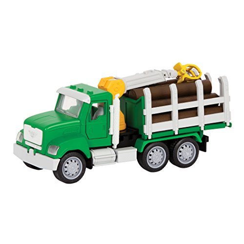 DRIVEN by Battat – Micro Logging Truck – Toy Logging Truck with Lights, Sounds and Movable Parts, for Kids 4+