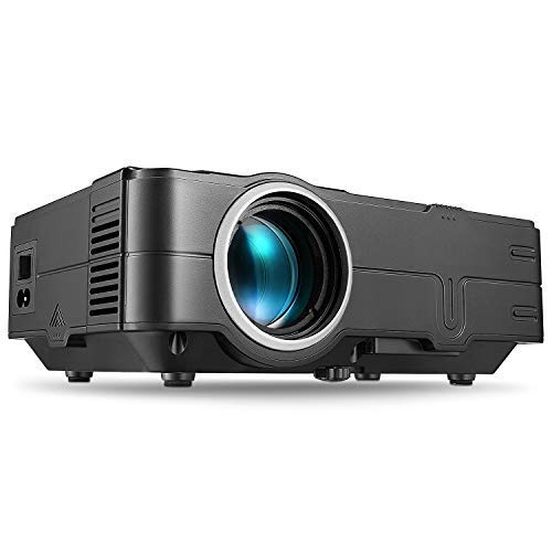 PHOOTA Mini Projector, 2019 Upgraded Portable LED Video Projector with 50,000 Hrs LED Lamp Life, 2400 Lux Full HD 1080P and 170