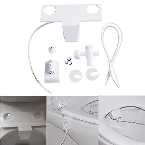 HSKB Automatische bidet-sprayer, flexibele douchekop voor toiletten, toilet, badkamer, hygiëneaccessoire voor alle verstopte blokkades toilet zelfreinigende sproeiapparaat voor badkamer