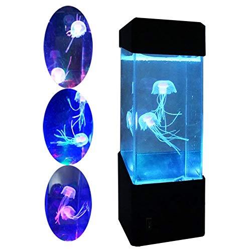 GGO Qualle elektrische Qualle Aquarium Aquarium - LED Fantasy Qualle Farbverfärbung Emotion Lampe - Home Decor Magic Light Geschenk