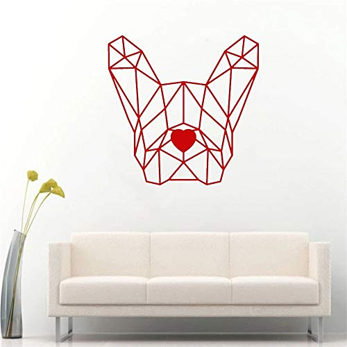 Pegatina de pared de vinilo con diseño de Bulldog francés