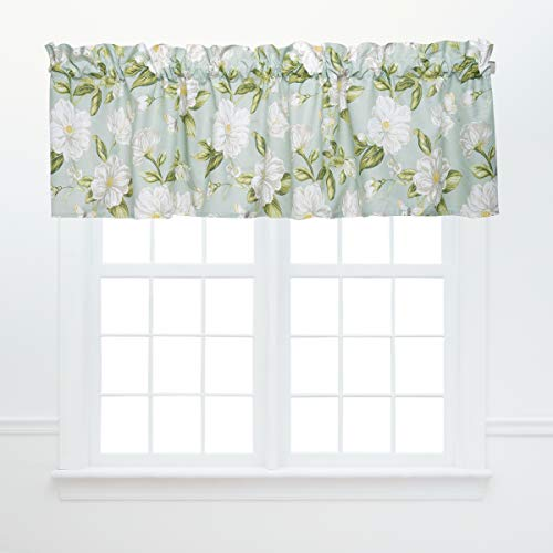 """C&F Home Colonial Williamsburg Magnolia Garden Valance Green and White Floral 15.5"""" X 72"""" Cotton Curtains for Window Living Dining Bedroom Kitchen Premium Window Cotton Valance 15.5"""" x 72"""" Green"""