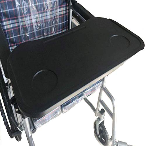 Wheelchair Lap Tray Table Accessories, Medical Portable Child Chair with Cup Holder, Universal Desk Trays Suitable Manual Wheelchairs(51.5X25.5Cm)