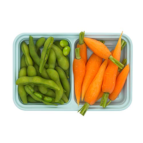 Good Cook Meal Prep, 2 Snack Compartments BPA Free, Microwavable/Dishwasher/Freezer Safe, Blue