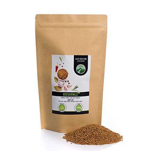 Bockshornklee Samen ganz (500g), 100% naturrein, Bockshornkleesaat natürlich ohne Zusätze, vegan, Bockshornkleesamen