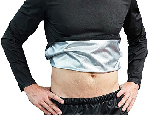 Camiseta Sauna Hombre Abdominales Adelgazante Para Sudar Elegante L Gimnasio Gym Casa Perdida De Peso Rapido Reducir Faja Adelgazar Hombres Quemagrasas Abdominal Lumbar Musculacion
