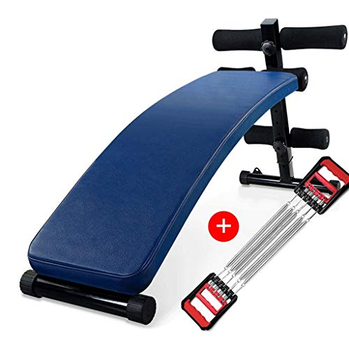 Halterbank Sit Up Buikspierbank Fitness Machine for Home Fitness Board abdominale sporter Uitrustingen Gym Training Spier Fitnessapparatuur voor thuis Halterbank (Color : Blue C)