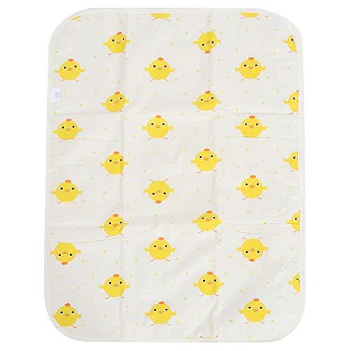 Tappetino da Viaggio Portatile Impermeabile Traspirante Urina per Bambini Addensare Cotone Infantile Fasciatoio per Pannolini perRagazzi Ragazze Neonato (Yellow Chicken)