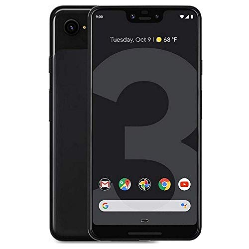 Google Pixel 3 (64GB, 4GB RAM) 5.5 QHD +, IP68 Resistente à água, Snapdragon 845 GSM / CDMA desbloqueado de fábrica (AT & T / T-Mobile / Verizon / Sprint) (apenas preto, 64GB)