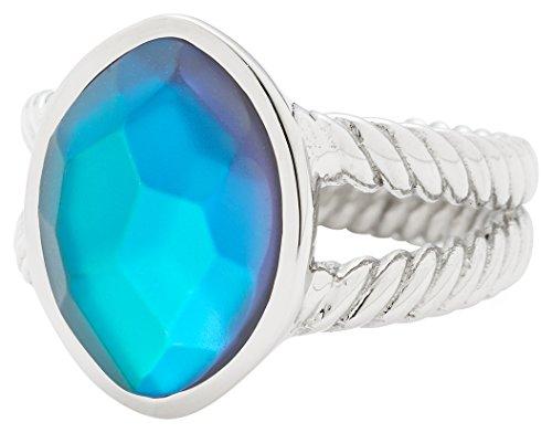 Leonardo Jewels Damen Ring Misterioso Edelstahl Glas blau Gr. 60 (19.1) 016203