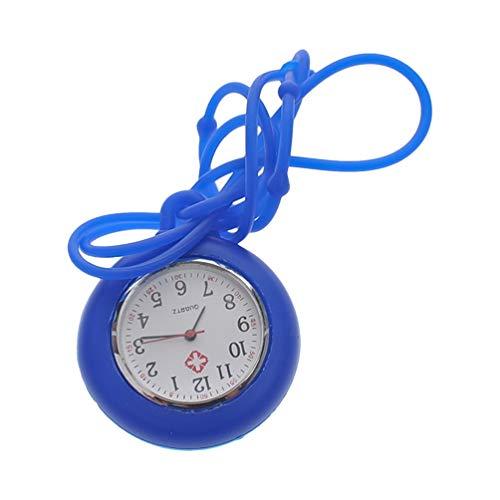 NICERIO Enfermera Reloj de Bolsillo Reloj Médico Silicona Enfermera Reloj Colgante de Bolsillo Color Sólido Enfermera Reloj Redondo