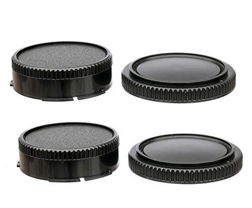 (2 Packs) FD Mount Rear Lens Dust Cap Body Cover for Canon FD Camera Lenses, FD Rear Lens Cap, Canon FD Back Cap, FD Body Cap fits Canon F1 FTb TLb T90 T80 T70 T60 AL-1 AE-1 F-1 AV-1 AT-1