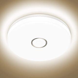 Onforu 18W Plafón Led de Techo, 1600LM LED Lámpara de Techo, 4000K Blanco Neutro Moderna Luz de Techo Redonda IP54 Impermeable para Baño, Dormitorio, Cocina, Sala de Estar, Comedor, Habitación