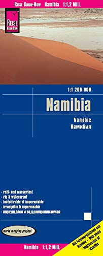 Reise Know-How Landkarte Namibia (1:1.200.000): world mapping project 16. Auflage 2020